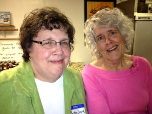 Pastor Joyce Caugherty and Susan Shanklin