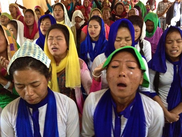 Weeping under in the presence of the Lord in Nepal..