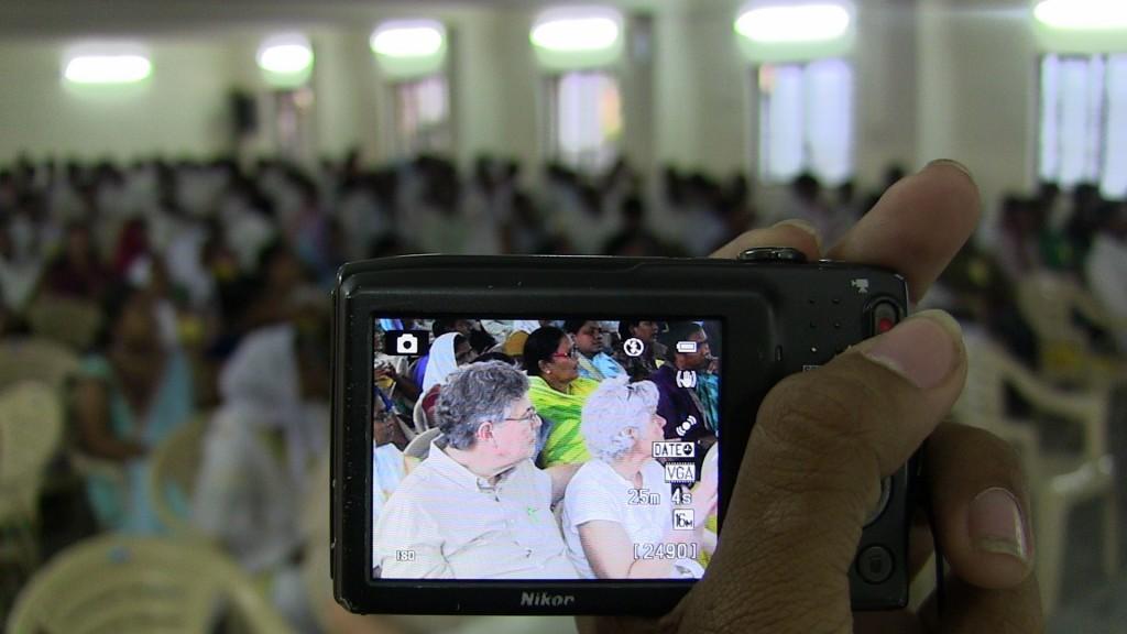 Tom and Susan at the Pastors Conference in Karimnagar.